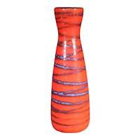 Red Decorated German Vase From Bay
