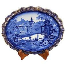 Barkers & Kent Deep Delft Blue Scenic Platter
