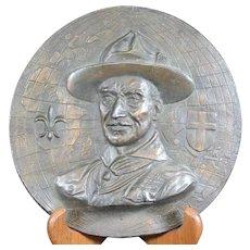 Rare Plaque of Lord Baden Powell - 1937 - 5th World Jamboree