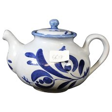 Sturdy St Clement Blue on Blue Teapot
