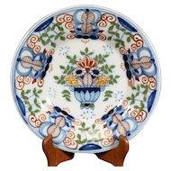 Round Highly Decorated Tichelaar Makkum Plate