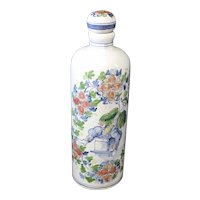 Attractive Decorated Tichelaar Makkum Decanter or Bottle