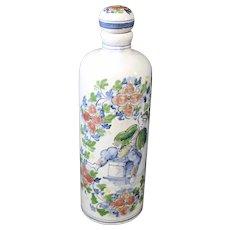 Attractive Decorated Tichelaar Makkum Decanter or Bottle