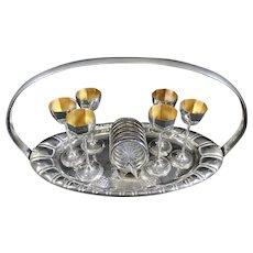 Art Nouveau Liqueur Set & Table Centerpiece