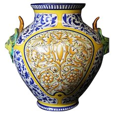 Double Face Roma Highly Decorated Pottery Vase