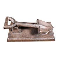 Country Life Style Novelty Cast Iron Shovel Themed Door Knocker