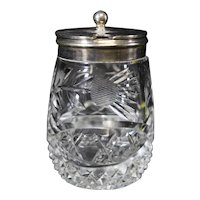 Elkington & Co - Crystal Mustard or Condiment Pot - Silverplate