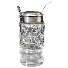 Crystal and Silver-plated Mustard or Salt Cellar - Attractive