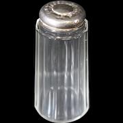 Silver Topped Crystal Bottle From Edwardian Ladies Dresser Set