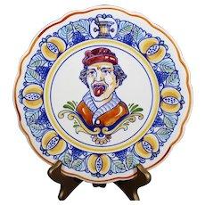 """Plateelbakkerij Schoonhoven - Gouda - """"The Gaper"""" Plate"""