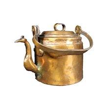 Hand Beaten 19th Century Copper Kettle - Handle & Lid