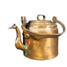 Hand Beaten 19th Century Copper Kettle - Handle & Lid