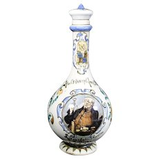 Dutch Antique Plateelbakkerij Rozenburg Decanter or Bottle