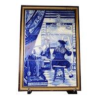 Framed Tile Montage - The Painter's Studio - Jan Steen 1660