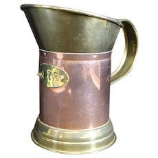 Beautiful Copper and Brass One Litre Decorative Handled Jug