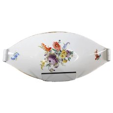Meissen Long Floral Designed Dish or Platter - Mid 19th Century