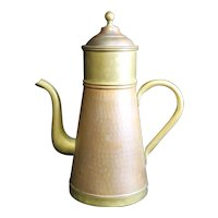 Belgian Made Vintage Copper Three Part Patinated Coffee Pot - 25.5cm