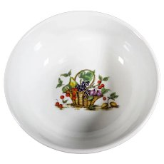Small Floral & Fruit Asian Ceramic Bowl