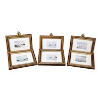 Miniature Maritime Pictures - Set of Six Framed
