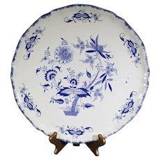 Deep Blue Flora and Fauna Style Sarreguemines Lancaster Plate