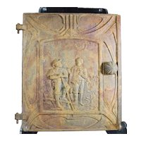 Ornate Antique Cast Iron Door With A Country Scene