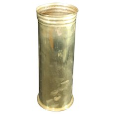 Brass April 1916 Mortar Shell or Obus Casing - First World War - History