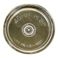 Brass 1955 40mm Mortar Shell or Obus Casing - History