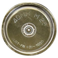 Brass 1955 40mm Mortar Shell or Obus Casing - History