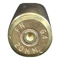 Brass 1964 20mm Mortar Shell or Obus Casing - History