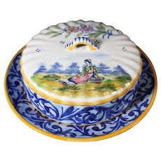 Henriot Quimper Covered Dish - Ideal Butter Dish