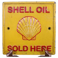 Substantial & Heavy Shell Oil Metal Sign