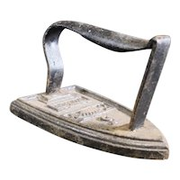 """Cast Iron """"Ordinaire"""" Crowned No 5 French Sad Iron from the late 1880's"""