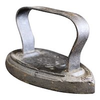 Cast Iron No 4 GS French Sad Iron from the late 1870's