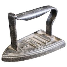 """Cast Iron """"DemiPort"""" No 4 French Sad Iron from the late 1870's"""
