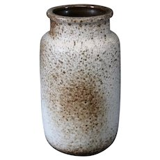 Mottled German Variable Brown and Cream Vase