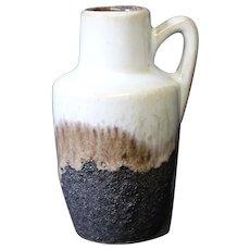 Brown, Beige & Cream Ornate German Handled Jug or Vase