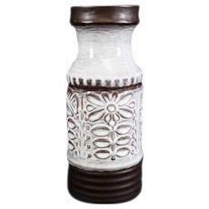 Cream & Brown German Jebelacker Vase