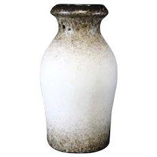 Mottled German Banded Cream Baluster Vase