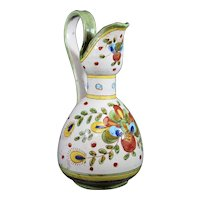 Deruta Abstract Floral Decorated Stylish Jug