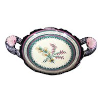 Henriot Quimper Two Handled Floral Decorated Dish or Bowl