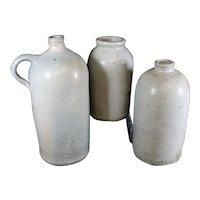 Large Aged English Earthenware Jars