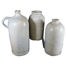 Large Aged English Earthenware Jars