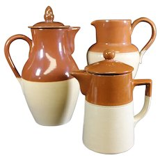 Denby & More Aged Earthenware Jugs - Set of Three