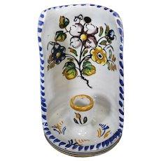 Spanish Talavera Del Prado Ceramic Candleholder