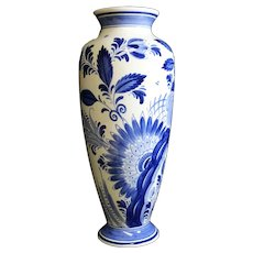 Ram Arnhem - Delft Blue Tall Vase - Dutch