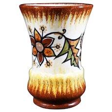 Quimper Autumnal Flora Hand Painted Vase