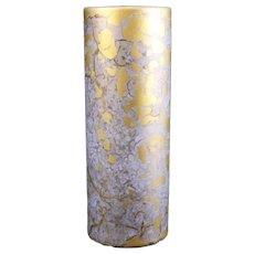 Rosenthal Mottled Gold Cylindrical Vase