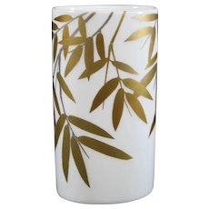 Signed Studio Line - Rosenthal - Oval Gold Bamboo Vase