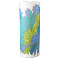 Rosemunde Nairac - Rosenthal - Studio Line Blue, Green Cylindrical Floral Vase