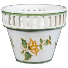 Miniature Sloping Pierced Pot Delicately Designed